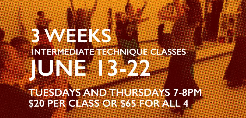 3 weeks intermediate technique classes
