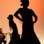 silhouette flamenco dancers