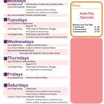 Fall Class Schedule